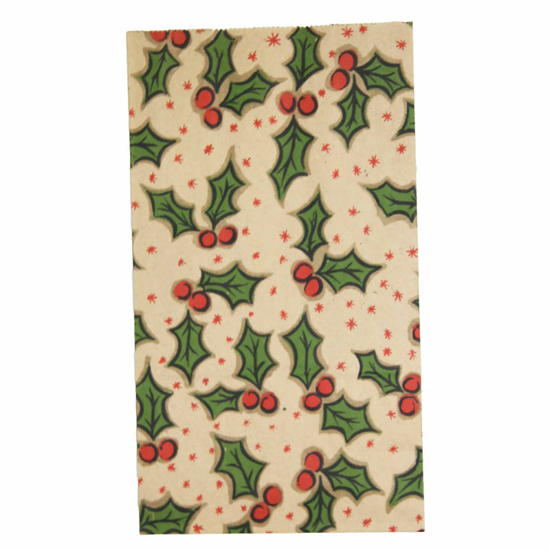 Christmas Gift Bag Paper -  Holly