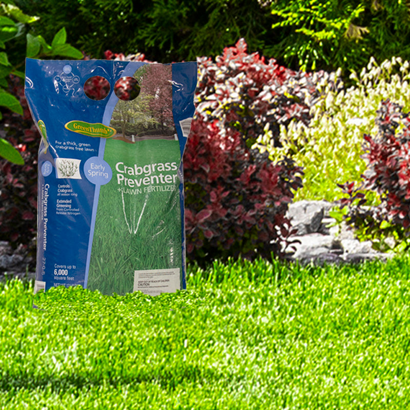 Green Thumb - Crabgrass Preventer - Lawn Fertilizer 17 Lbs