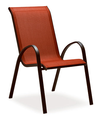 Four Seasons Courtyard - Verona Red Sling Stacking Chair