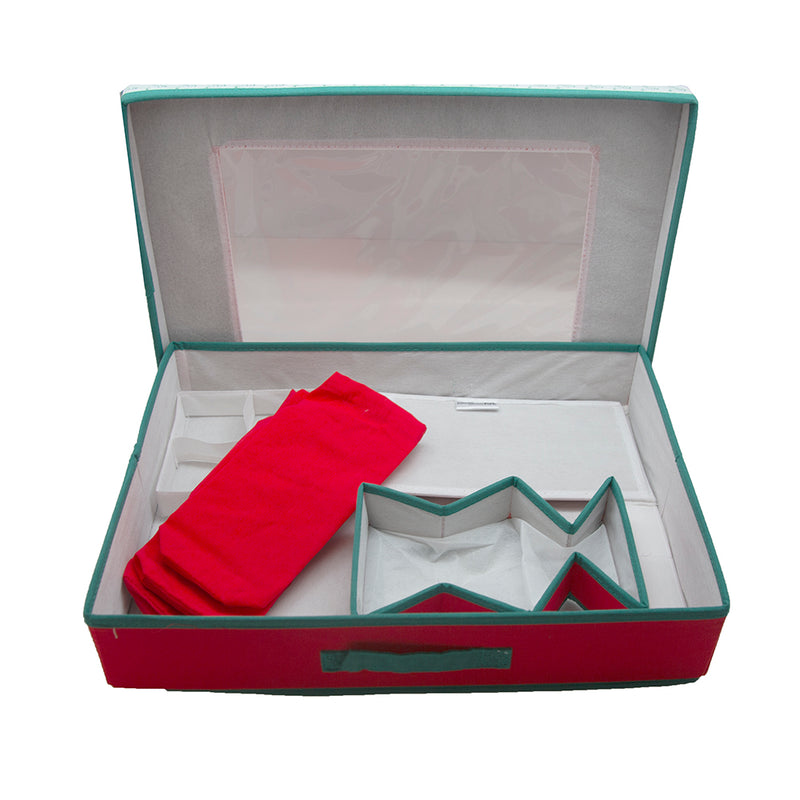 Table Top Set Red With Holly Trim ( Ploybag With ID / UPC Label )