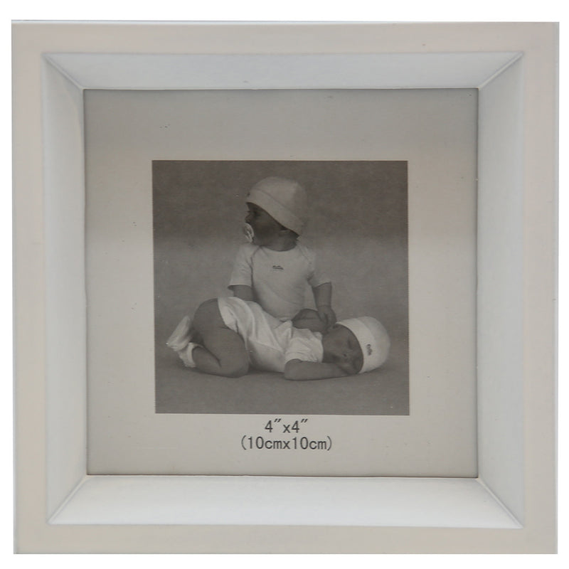 "White Photo Frame (4"" x 4"")"