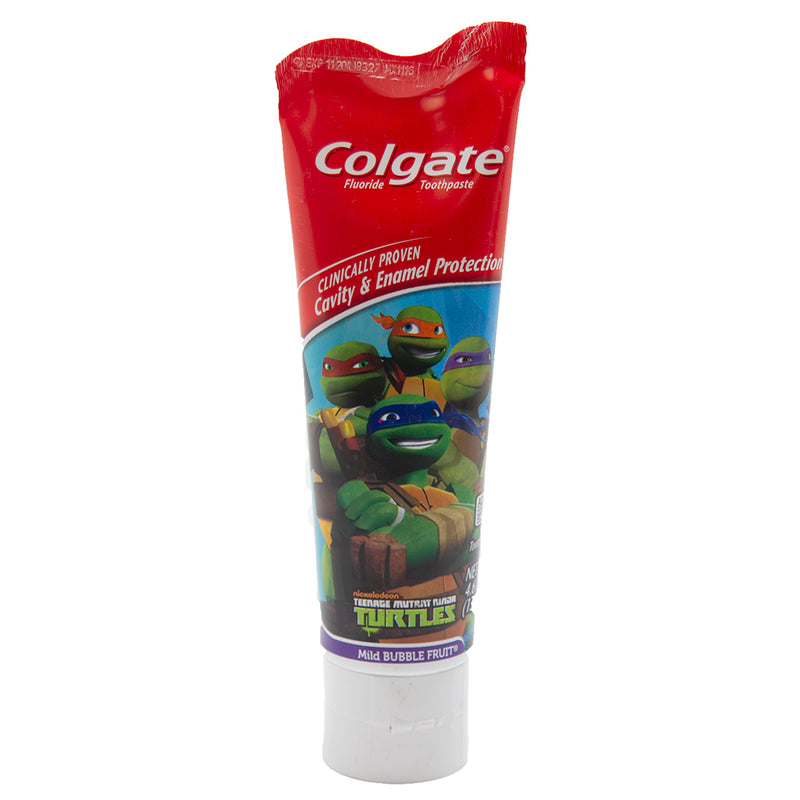 Colgate JR Toothpaste 4.6 oz Mild Bubble Fruit - TMNT - Exp. 09/01/2020