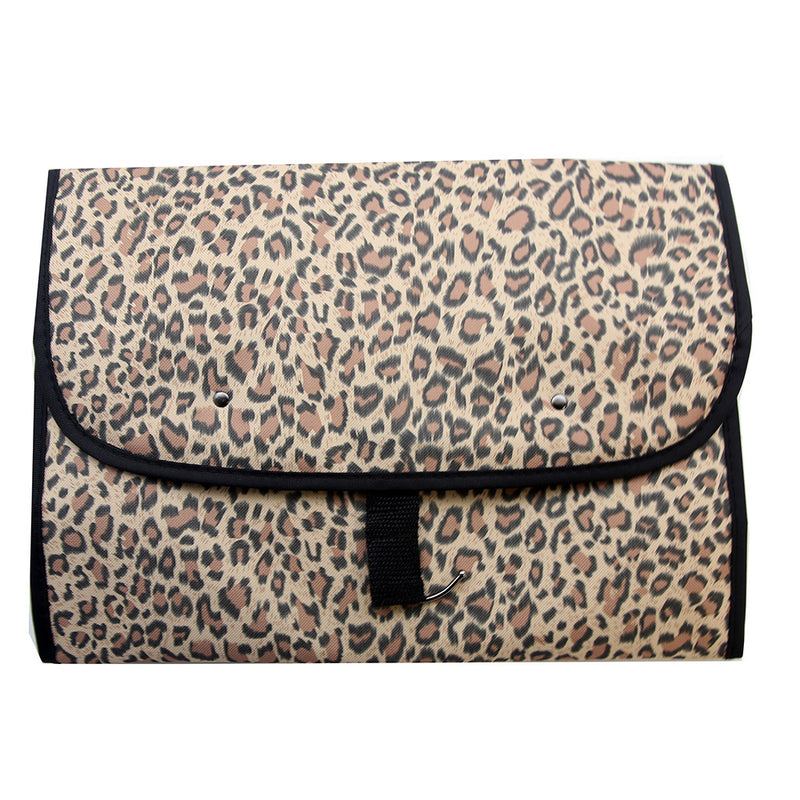 Household Essentials Hanging Travel Bag - Leopard