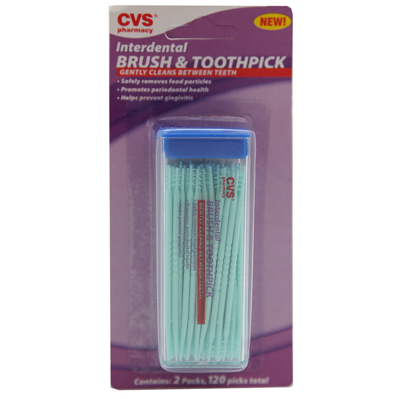 CVS Interdental Brush & Toothpick (120ct)