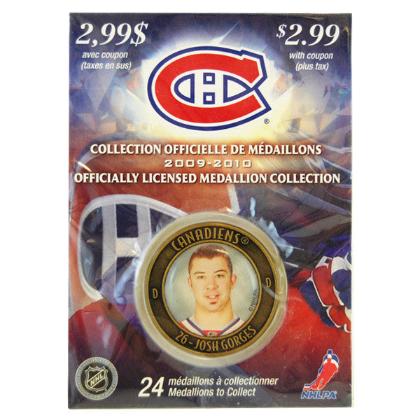 Josh Gorges Officiallyl Licensed  Medallion Collection