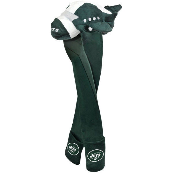 Long Mascot Hat - New York Jets (White and Green) - Genuine Merchandise
