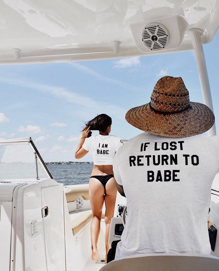 If Lost Return To Babe Couples Tee's