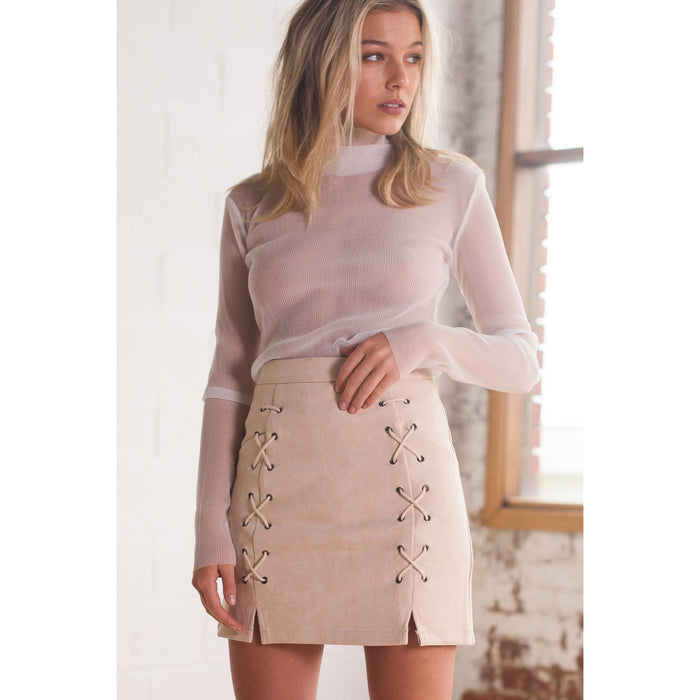Cream Zelda Skirt - kittbae