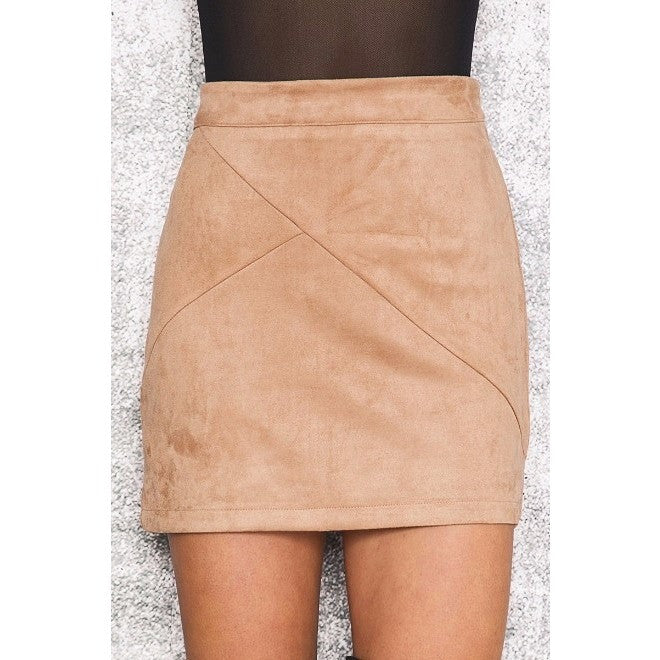 Misha Skirt, Camel - kittbae