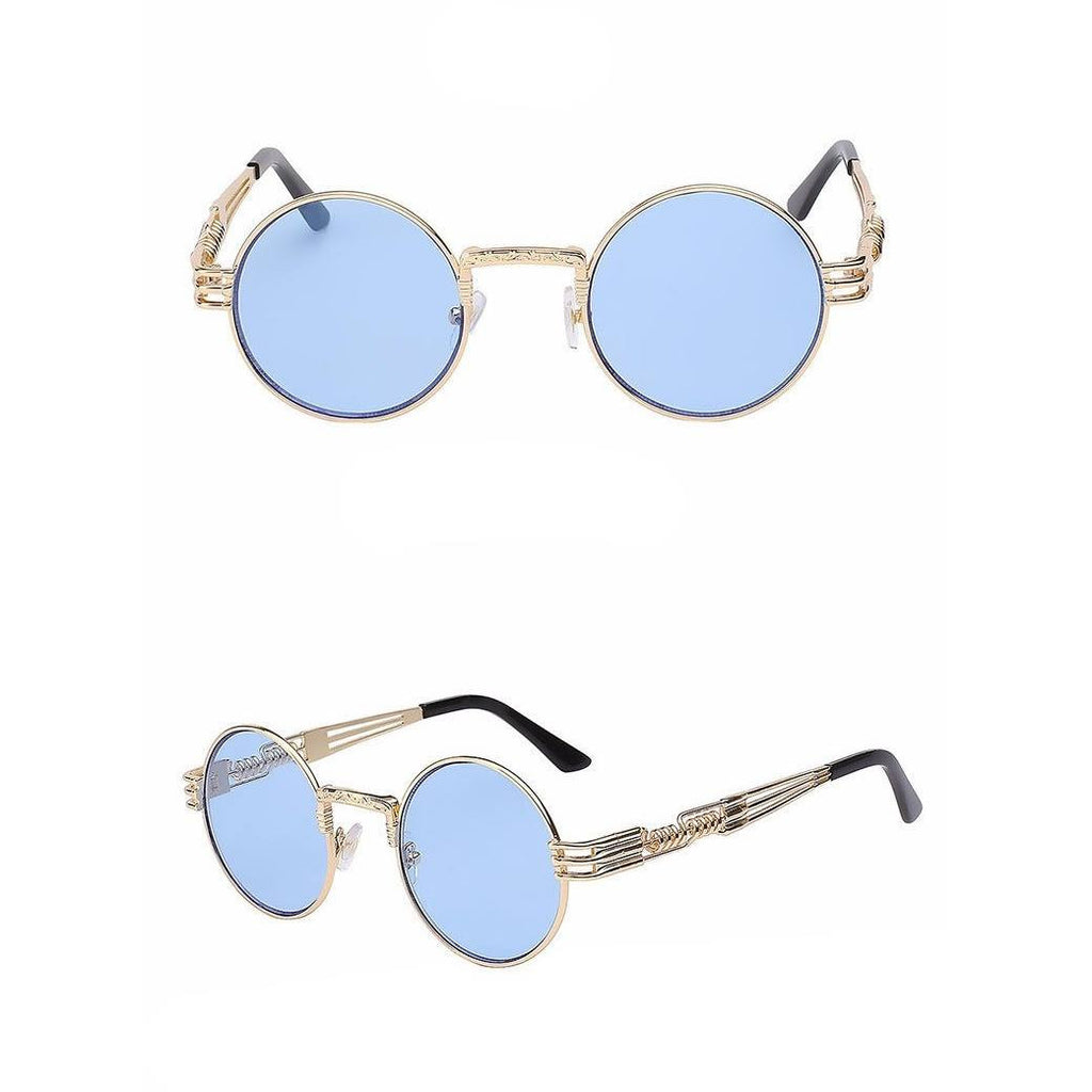 Gold/Blue Superfunk Sunglasses - kittbae