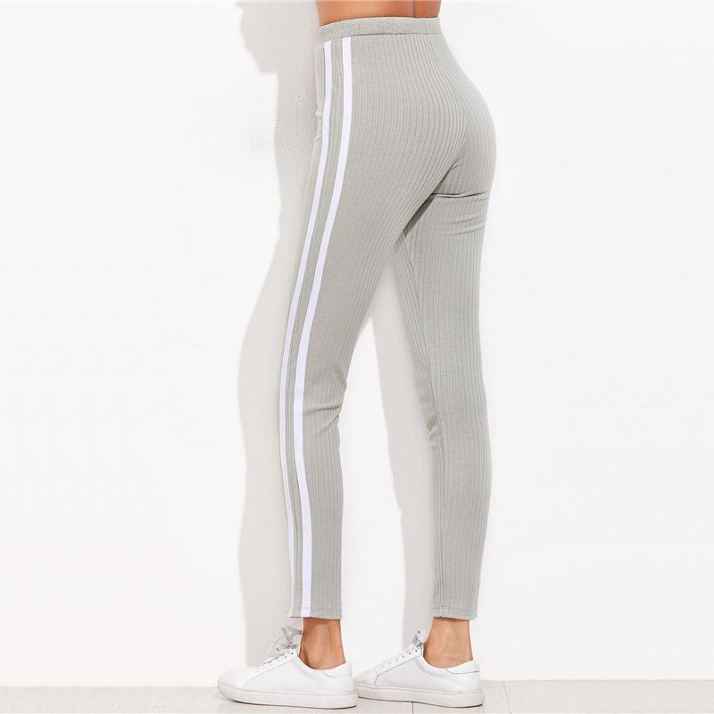 Grey Stripe Sweatpants - kittbae
