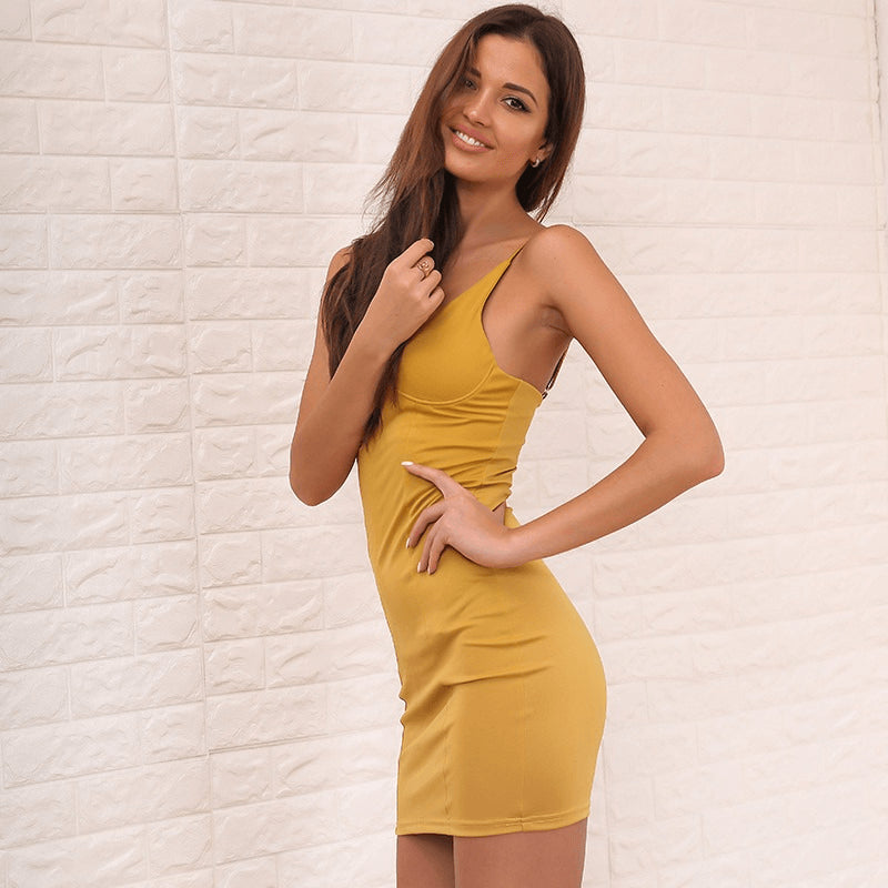 Fain Dress, Mustard - kittbae
