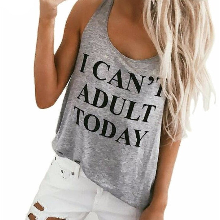 I Cant't Adult Today Tank - kittbae