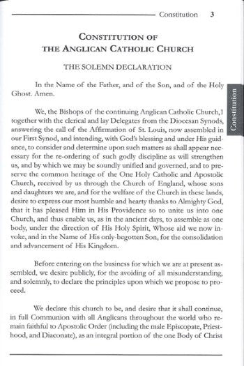 Constitution and Canons of the ACC