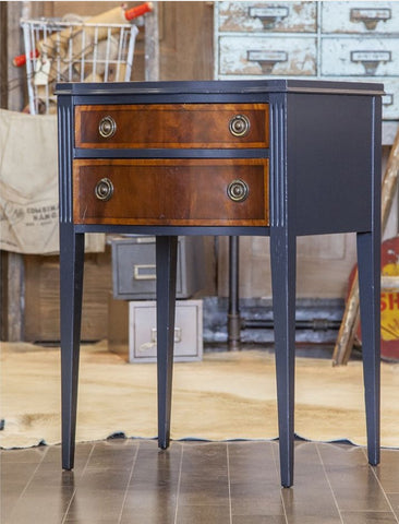 Vintage Painted Mahogany Side Tables