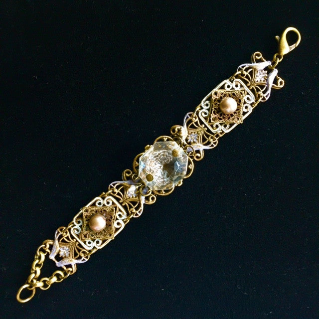Filigree Crystal Bracelet