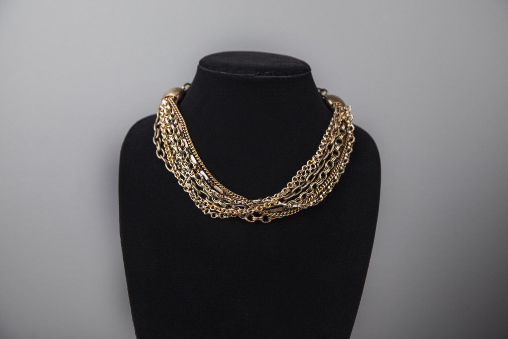 Mixed Up Chains Necklace