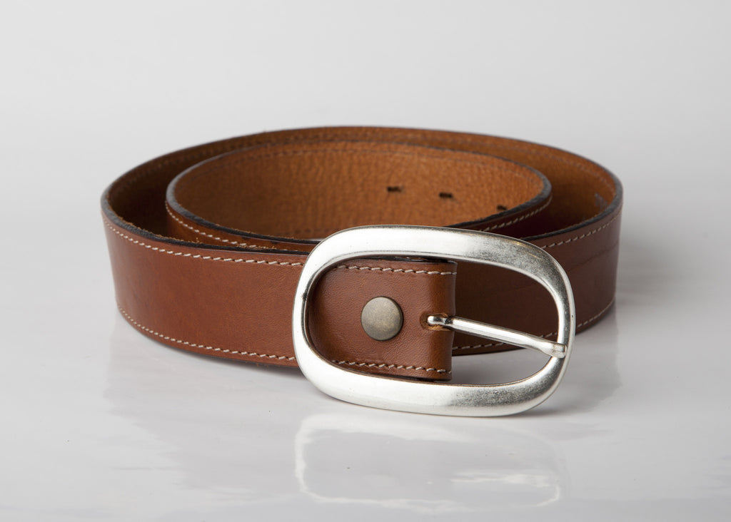 Caramel Leather Belt