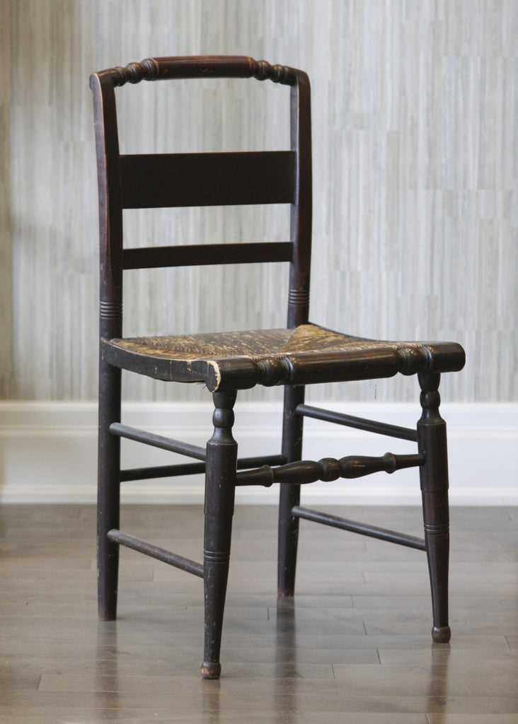 Antique Rush Seat Side Chair