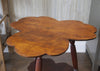 Antique Clover Leaf Tripod Side Table (top view)