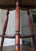 Antique Clover Leaf Tripod Side Table (close up legs)