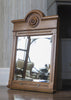 Antique Oak Mirror (angled view)