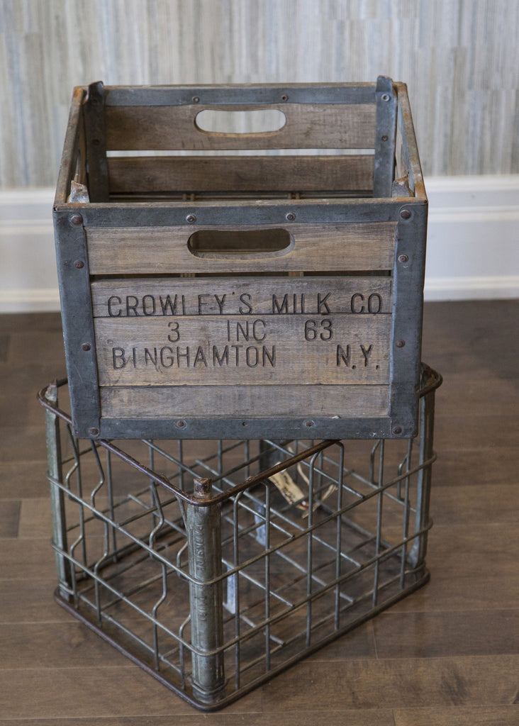 Vintage Crowleys Milk Crates