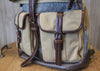 Leather and Canvas Licence Knapsack