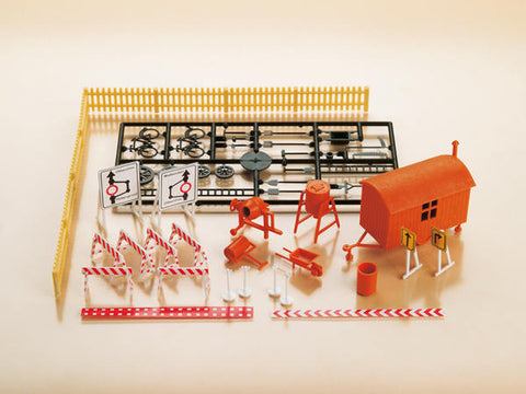 Auhagen 12267 HO Gauge Construction Site Accessories Plastic Kit