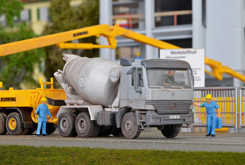 Kibri 14062 HO/OO Gauge MB ACTROS 3-Axle Concrete Mixer Kit