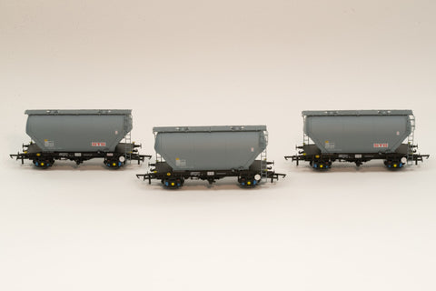 Accurascale 2023STS-D OO Gauge STS PCA Cement Wagon Triple Pack D