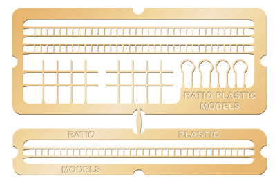 Ratio 218 N Gauge Etched Brass Signal Laddering Kit