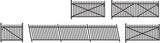 Ratio 246 N Gauge Spear Fencing Ramps & Gates Kit