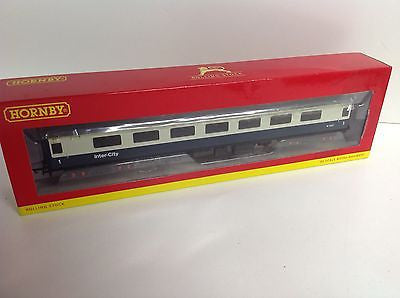 Hornby R4611 OO Gauge BR Intercity Mk2E Open First (With Lights) W3247 Blue/Grey