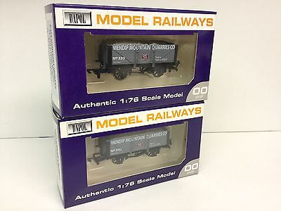 Dapol OO Gauge 7 Plank Wagons Mendip Mountain Quarries - East Somerset