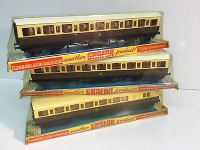 Graham Farish 10624/10634 OO Gauge GWR Mainline Coaches 9003x2, 7094x1