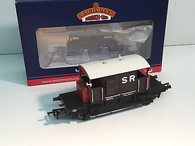 Bachmann 38-400 OO Gauge SR Pill Box Brake Van SR Brown White Roof