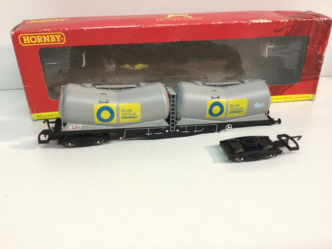 Hornby R6311A OO Gauge PDA Depressed Centre Wagon Blue Circle