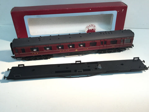 Dapol E1A OO Gauge LMS 68' 12 Wheeled Dining Car 238 Maroon
