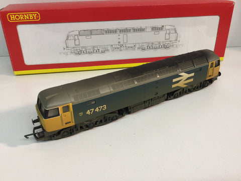 Hornby R2254B OO Gauge Class 47 No 47473 in Large Logo Livery (Weathered)