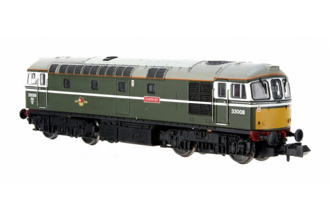 Dapol 2D-001-006D N Gauge Class 33 008 'Eastleigh' BR Green Yellow Front (DCC-Fitted)