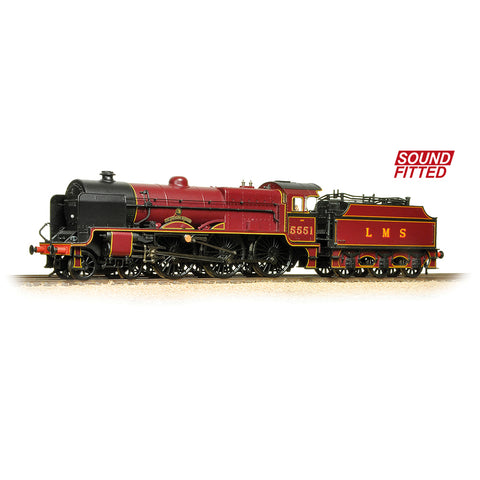 Bachmann 31-215SF OO Gauge LMS 5XP 'Patriot' 5551 'The Unknown Warrior' LMS Crimson