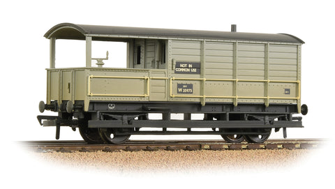 Bachmann 33-308A OO Gauge GWR 20T 'Toad' Brake Van BR Grey (Early) - Weathered