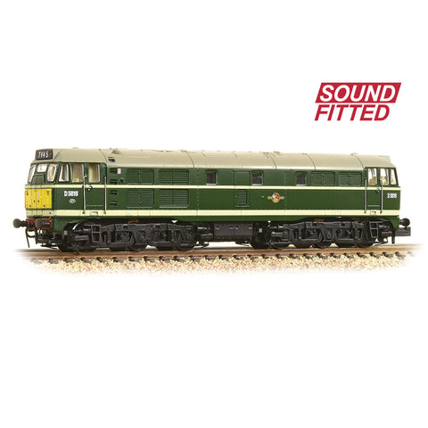 Graham Farish 371-111ASF N Gauge Class 31/1 D5616 BR Green (Small Yellow Panels)(DCC SOUND)