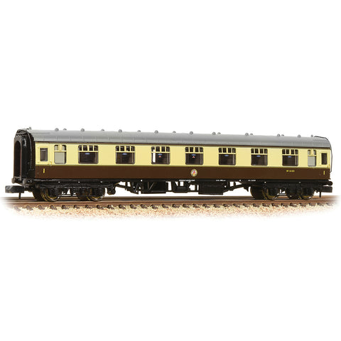 Graham Farish 374-163A N Gauge BR Mk1 FL First Corridor Coach BR(WR) Choc/Cream