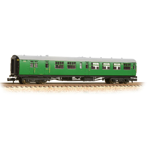Graham Farish 374-432A N Gauge SR Bulleid Brake 3rd Semi Open Coach BR Malachite Green