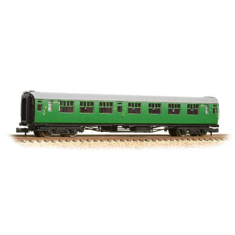 Graham Farish 374-462 N Gauge SR Bulleid Composite Corridor Coach BR Malachite Green