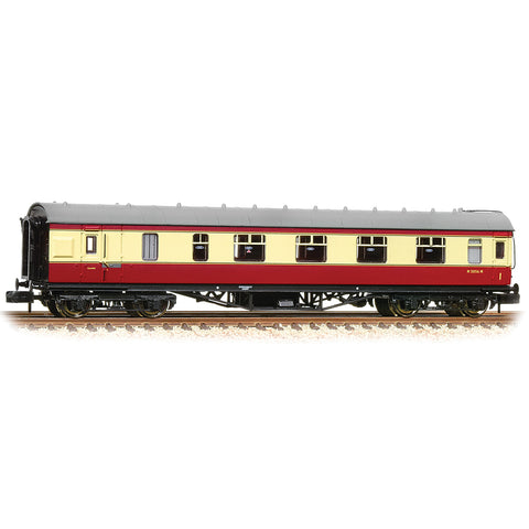 Graham Farish 374-831C N Gauge BR Crimson/Cream Stanier Brake 1st Corridor Coach