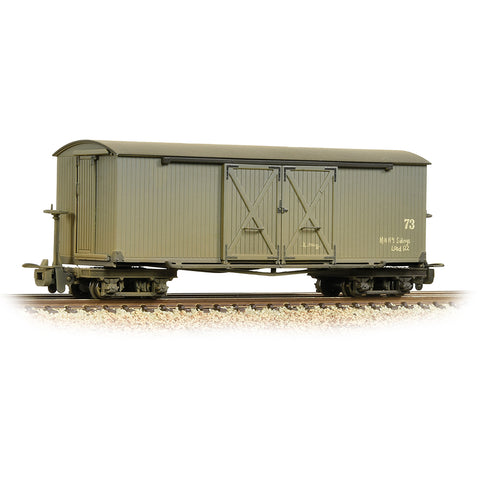 Bachmann 393-026A OO-9 Gauge LR Grey Covered Wagon Nocton Estates