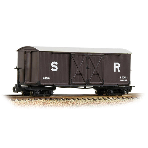 Bachmann 393-028 OO-9 Gauge SR Brown Covered Goods Wagon